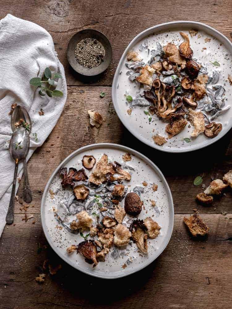 Supa cu ciuperci si cereale
